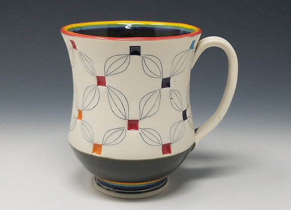 Rainbow Mug with Grey interior Glaze