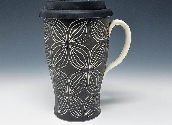 Purple Flower Travel Mug