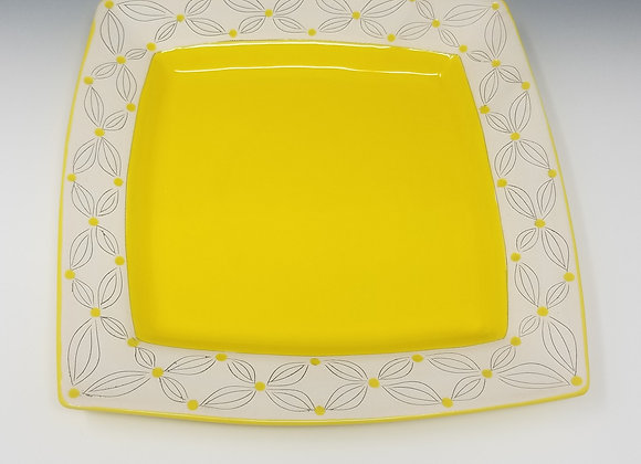 """10"""" Yellow Square Plate"""
