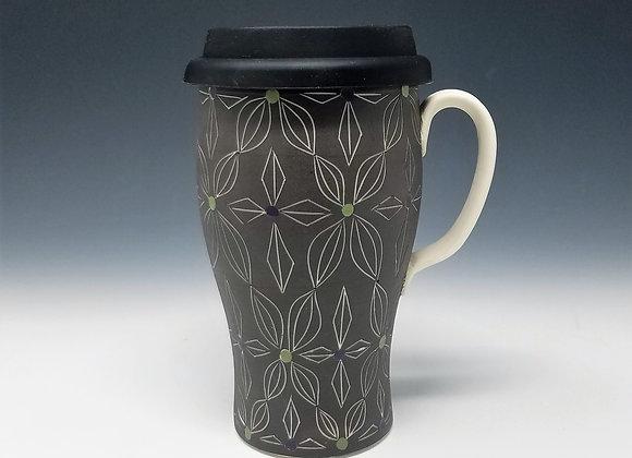 Double Double Flower Travel Mug