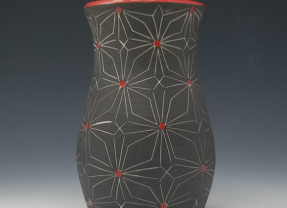 Small Vase with Gothic Pattern