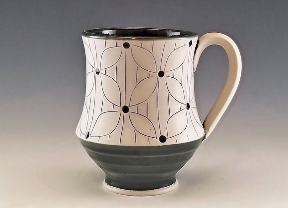 Flower with Lines Mug