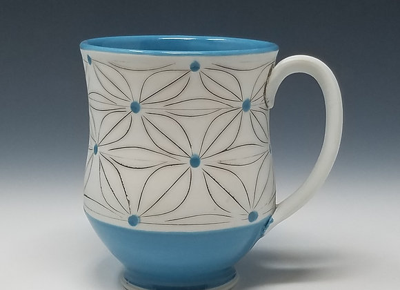 Five Leaf Flower Mug