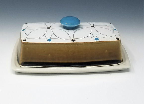 Overlapping Flower Butter Dish