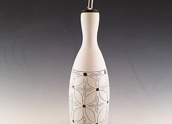 Green Flower Oil Bottle