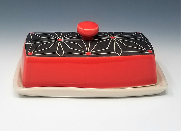 Gothic Flower Butter Dish