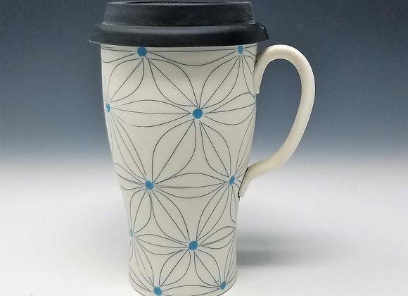 Five Leaf Flower Travel Mug