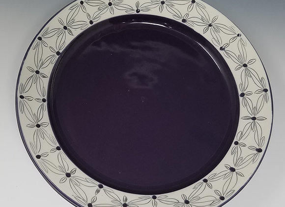 "10"" Dinner plate with Quad Flower Pattern"
