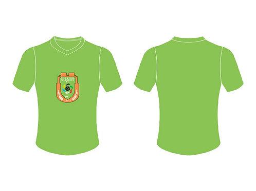 RWFC V-Neck T-Shirt (Green ; Center Chest Emblem)