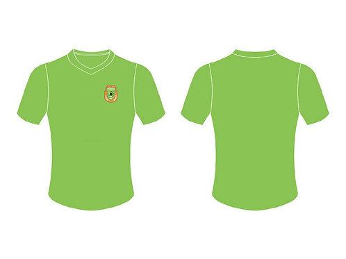 RWFC V-Neck T-Shirt  (Green ; Left Chest Emblem)