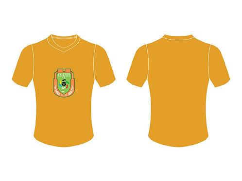 RWFC V-Neck T-Shirt (Orange ; Center Chest Emblem)