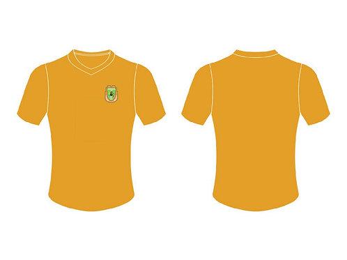 RWFC V-Neck T-Shirt (Orange ; Left Chest Emblem)