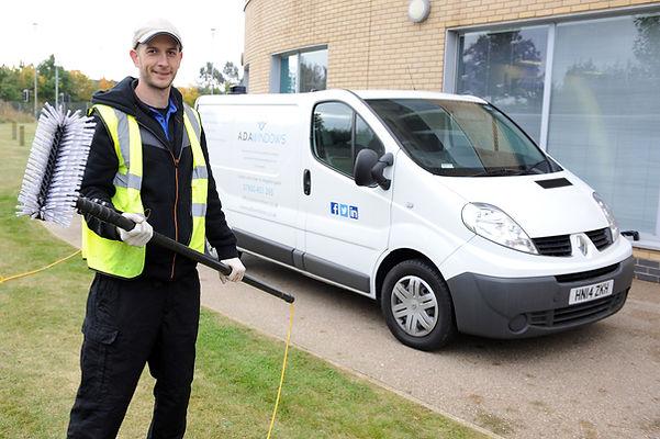 Dan Dawson is a window cleaner in Ipswich