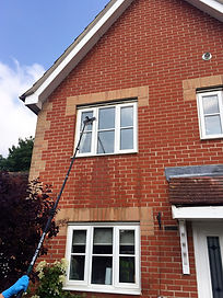A.D.A. Windows use water fed poles when we work as your window cleaner in Ipswich