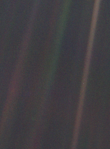 Pale Blue Dot from Voyager 1 (NASA)