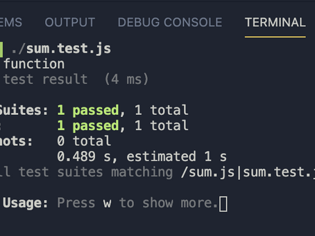 Testing in React Part 1: Jest