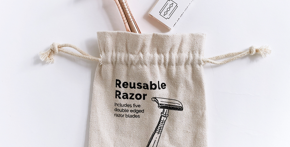 Reusable Safety Razor (Rose Gold)