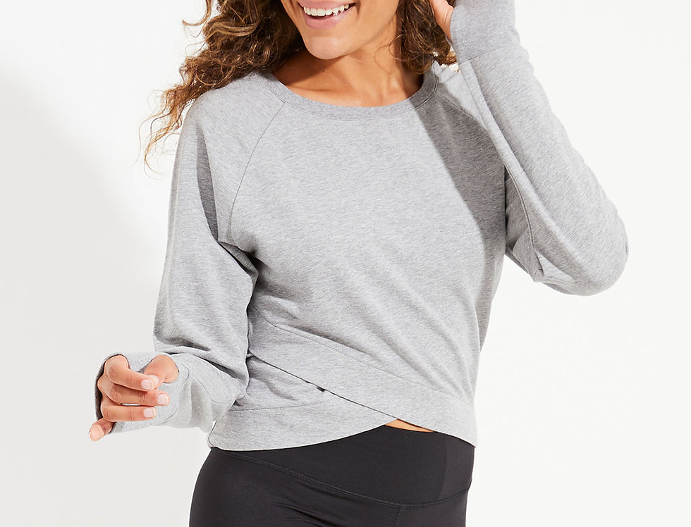Silver Crop Sweat Dharma Bums