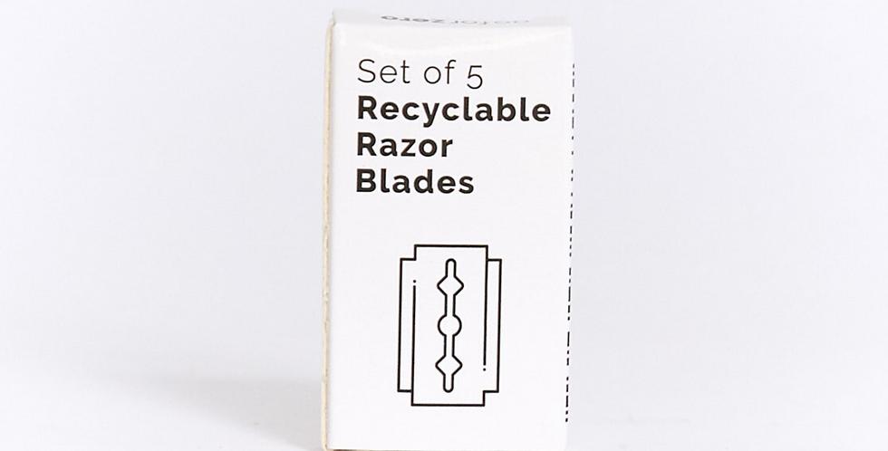 Safety Razor Blade Refills (Set of 5)