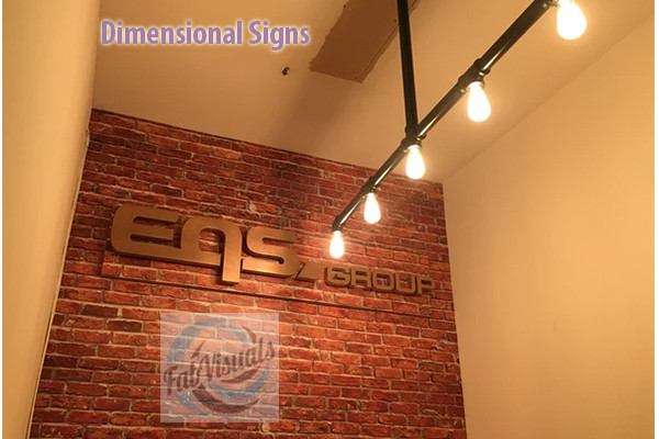 Dimensional sign