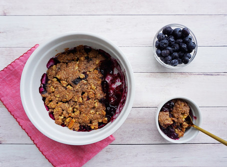 Blueberry Crumble (grain free, gluten free, vegan)