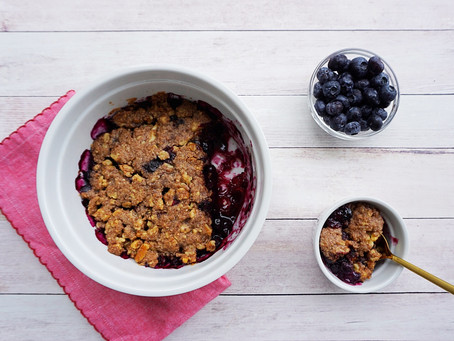 Blueberry Crumble (grain free, gluten free, vegan)