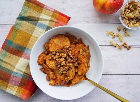 Cinnamon Baked Apples with Toasted Walnuts