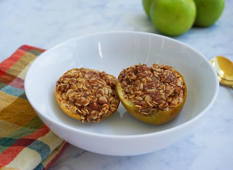 Crispy Cinnamon Baked Apples (gluten free & vegan)