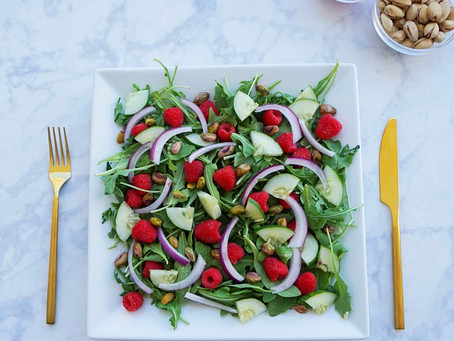 Raspberry Pistachio Salad (vegan & gluten free)