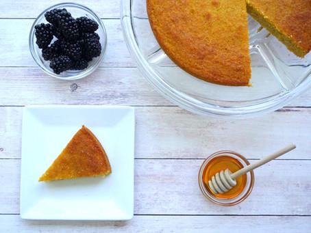 Honey Almond Cornmeal Cake (gluten free & dairy free)