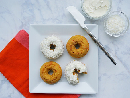 Almond Flour Carrot Cake Donuts