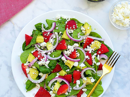 Strawberry, Avocado, & Goat Cheese Salad