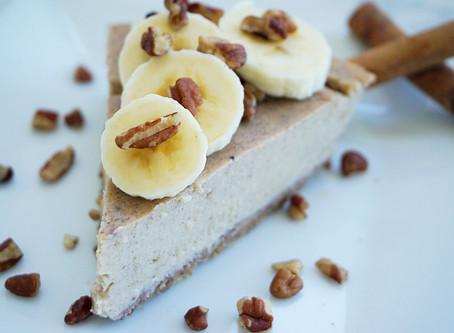 Cinnamon Banana Cheesecake (gluten free & vegan)