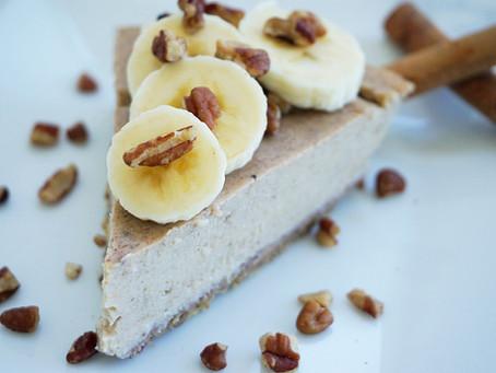Cinnamon Banana Cheesecake (gluten free & vegan)