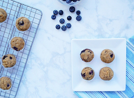 Blueberry Banana Muffins (vegan and gluten free)