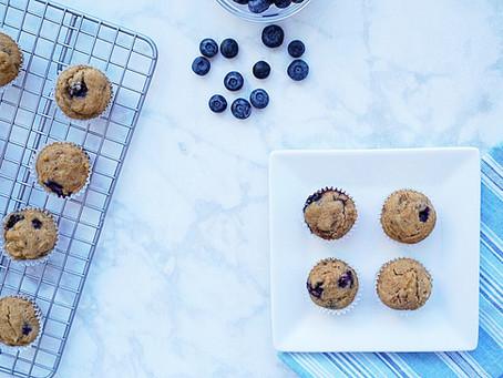 Blueberry Banana Muffins (vegan and gluten free)