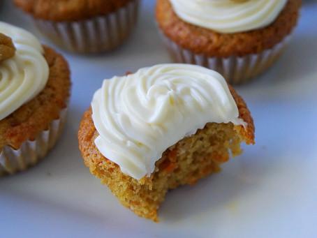 Carrot Cake Cupcakes (gluten free)