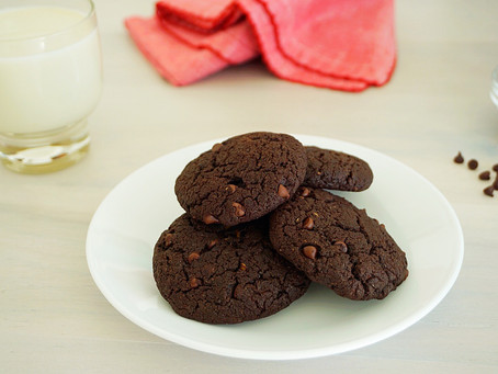 Double Chocolate Avocado Cookies (gluten free, paleo, & vegan)