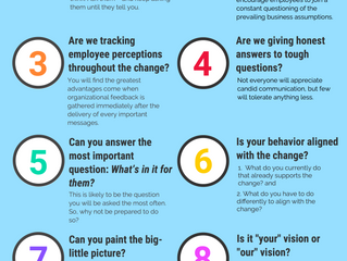 10 Questions Change Leaders Need To Answer [Infographic]