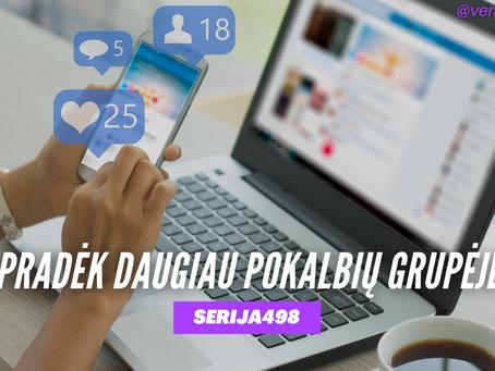 Serija #498 Kaip gauti daugiau pardavimų savo Facebook grupėje? 💰
