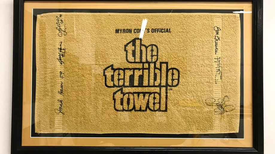 Steel Curtain Signed Towl