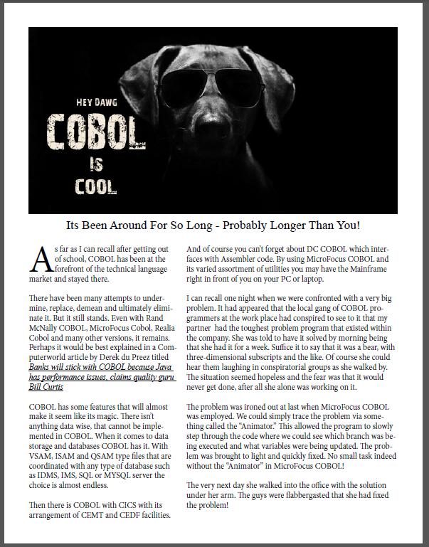 Dawg COBOL Cool