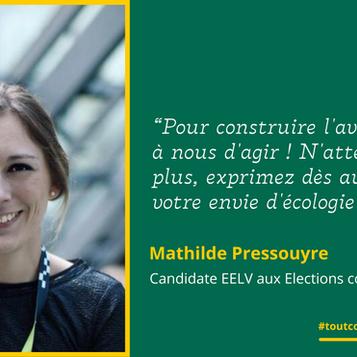 """Meet Mathilde: """"Pour construire l'avenir, c'est à nous d'agir!"""""""