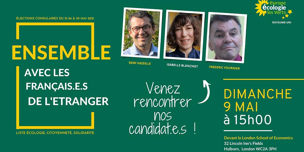 Elections consulaires : venez rencontrez nos candidat.e.s !