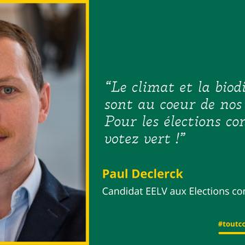 """Meet Paul: """"Le climat et la biodiversité sont au cœur de nos priorités"""""""