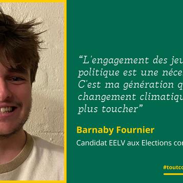 """Meet Barnaby: """"L'engagement des jeunes en politique est une nécessité !"""""""
