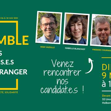 Elections consulaires: Venez rencontrer nos candidat.e.s !