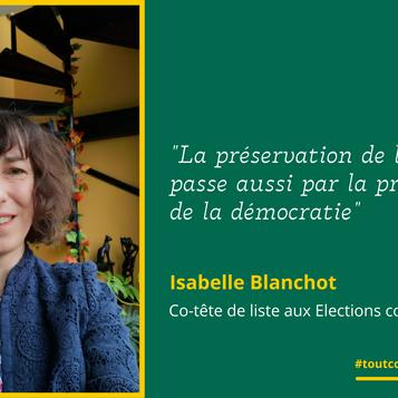 Meet Isabelle: L'engagement politique en 2021