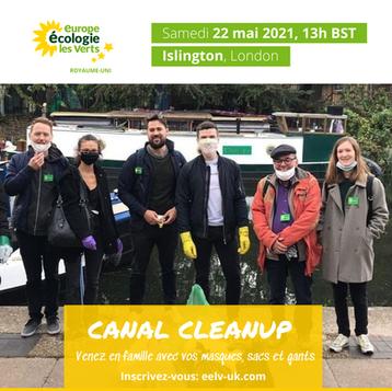 Canal CleanUp samedi 22 mai: register here!
