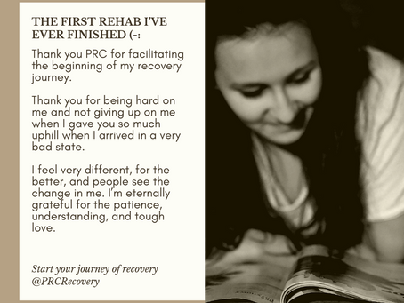 Thank you PRC Recovery for facilitating my recovery journey